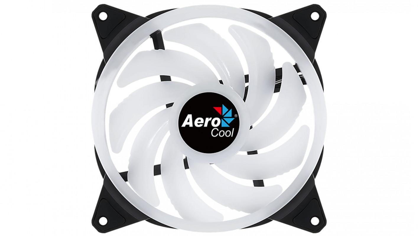 Aerocool Duo 14 Carcasa del ordenador Ventilador 14 cm Negro